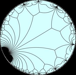 Snub apeiroapeirogonal tiling - Image: Infinitely infinite order floret pentagonal tiling