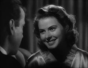This screenshot shows Ingrid Bergman in a flas...
