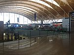 Inside view of Terminal 2 of Shanghai Pudong International Airport.JPG