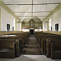 Interieur, overzicht richting het westen met orgel en kerkbanken - Wagenborgen - 20387752 - RCE.jpg