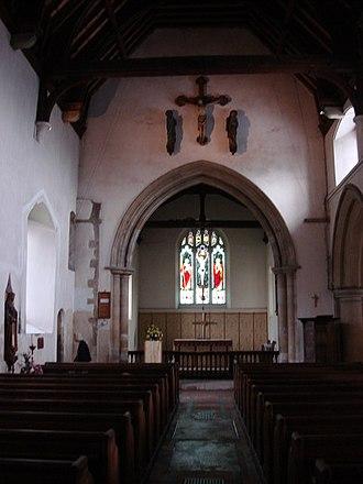 Lawrence Washington (1602–1653) - Interior of All Saints' Church, Maldon, burial place of Lawrence Washington