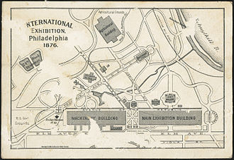 Centennial Exposition - Map of the Exhibition complex.