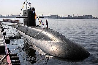Lada-class submarine - Image: International Maritime Defence Show 2011 (375 27)
