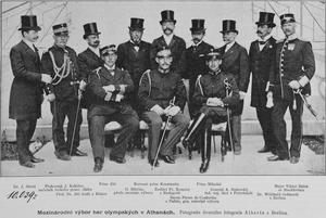 miembros del comit organizador de la i olimpiada