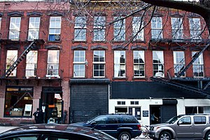 The Invisible Dog Art Center - The street view of the Invisible Dog Art Center at 51 Bergen street.