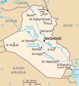Iraq - Mappa