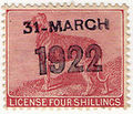 Ireland dog licence stamp used 1922.jpg