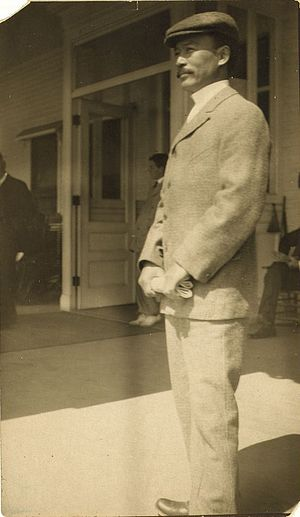 Yamashita Yoshiaki - Commander Takeshita Isamu at Portsmouth, New Hampshire, in 1905.