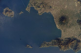 Metropolitan City of Naples - Aerial view of the Metropolitan City of Naples
