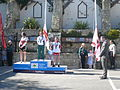 Island Games 2011 women's Town Centre Criterium cycling medal ceremony 2.JPG