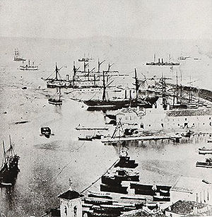 Battle of Lissa (1866) - Italian fleet in Ancona after the Battle of Lissa)