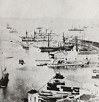 Battle of Lissa (1866) - Italian fleet in Ancona after the Battle of Lissa