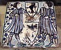 Italia centrale, mattonella in ceramica smaltata, 1390-1400 ca..JPG