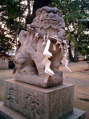 A-un - Image: Iwaya Jinja Komainu 2