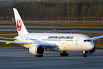 JA832J - Japan Airlines - Boeing 787-8 Dreamliner - PEK (15206392554).jpg