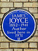 James joyce 1882 1941 author lived here in 1931