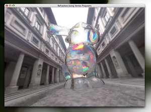 Java OpenGL - Image: JOGL Refrection Demo Screenshot