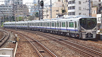225 series - A pair of 225-5000 series 4-car sets undergoing test running in October 2010