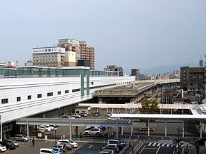 JR West Fukui Station East Exit 2013.jpg