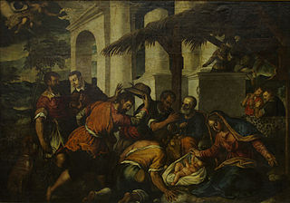 The birth of Jesus and adoration of the shepherds