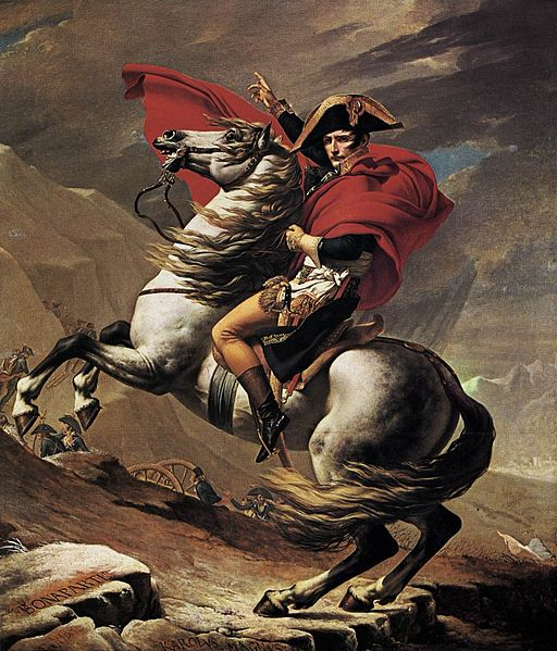 Jacques-Louis David - Napoleon at the St. Bernard Pass - WGA06083