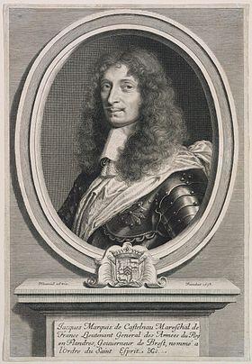 Jacques de Castelnau, gravure par Robert Nanteuil.