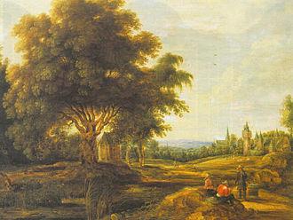 Jacques Backereel - Landscape with figures