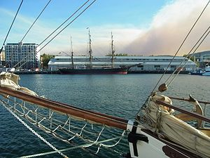 James Craig (barque) - James Craig in Hobart for Wooden Boat Show in Feb 2013