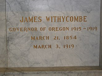 James Withycombe - Withycombe's crypt in Salem