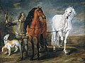 Jan Fyt and Jan Cossiers - Stable boy with two horses and two hounds.jpg