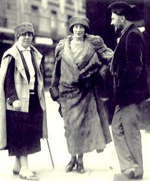 Mina Loy - Loy (center) with Jane Heap and Ezra Pound in Paris, c. 1923