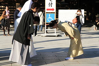 Bowing in Japan Custom in Japan, used as a salutation, a form of reverence, an apology or expression of gratitude