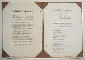 Lawrence Moore Cosgrave - The Japanese Instrument of Surrender