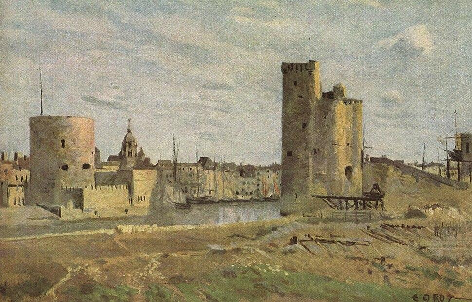 Jean-Baptiste-Camille Corot - La Rochelle, The Harbour Entrance