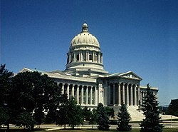 The Missouri State Capitol in Jefferson City