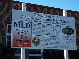 Monticello High School (Florida) - Image: Jefferson Cty High School Monticello sign 01