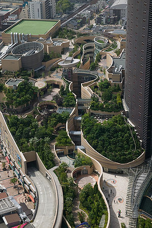 Namba Parks 'green' transit-oriented developme...