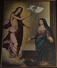 Jesus Cristo aparece à Virgem Maria