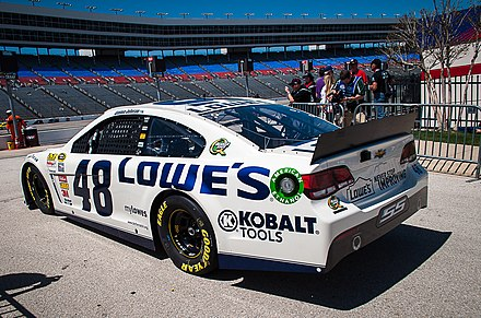 Jimmie Johnson's No. 48 Lowe's Chevrolet at Texas in 2013 Jimmie Johnson Hendrick Motorsports Texas April 2013.jpg