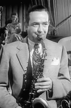 1947 in jazz - Jazz musician Jimmy Dorsey from the film The Fabulous Dorseys (1947)
