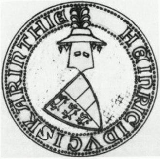 Henry of Bohemia - Seal of Henry, Duke of Carinthia, 1303