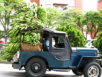 Yipao - Jeep loaded with plantains