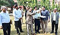 Jitendra Singh visiting the site for Hostel building for North Eastern students in Jawaharlal Nehru University (JNU) campus, in New Delhi.JPG