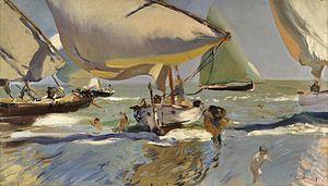 Joaquín Sorolla y Bastida - Barcas en la playa.jpg