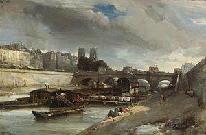 Johan Barthold Jongkind - Boot wasplaats de buurt van de Pont Neuf, Parijs.jpg