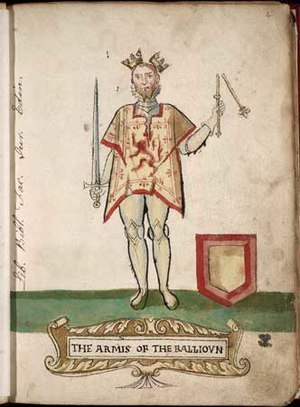 Wars of Scottish Independence - The dethroned King John, whom a Scottish chronicler dubbed 'toom tabard' ('empty coat')