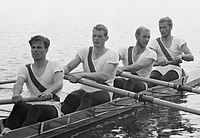 John Hansen, Erik Petersen, Kurt Helmudt, Bjørn Hasløv 1964.jpg