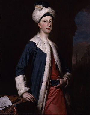 Fanny Murray - John Montagu, 4th Earl of Sandwich in Istanbul, c. 1740. Sandwich's interest in the Middle East led him to found the Divan Club.