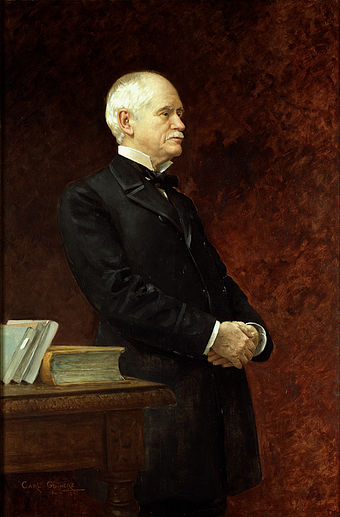 "John T. Morgan, Senator from Alabama, opposed Cleveland on Free Silver, the tariff, and the Hawaii treaty, saying of Cleveland that ""I hate the ground that man walks on."" John t morgan.jpg"