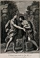 John the Baptist embraces Jesus, whom he has been awaiting. Wellcome V0034698.jpg
